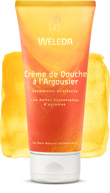 weleda cr me de douche l 39 argousier aux huiles essentielles d 39 agrumes 200ml boutique bio. Black Bedroom Furniture Sets. Home Design Ideas