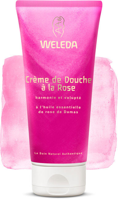weleda cr me de douche la rose l 39 huile essentielle de rose de damas 200ml boutique bio. Black Bedroom Furniture Sets. Home Design Ideas