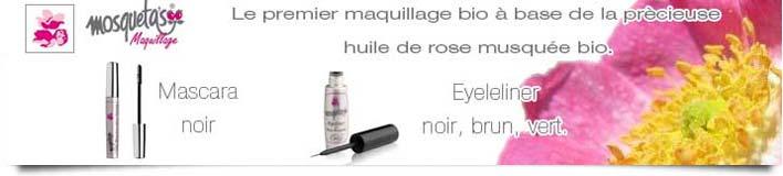 Maquillage bio à la rose musquée Mosqueta's