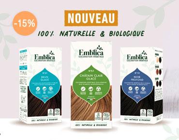Emblica, Coloration végétale 100% bio, éco-conçue à l'efficacité prouvée.
