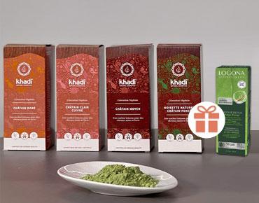 Pour l'achat de 4 produits Khadi, nous vous offrons le masque préparateur à la coloration Logona 100 ml.
