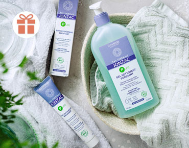 Pour l'achat de 2 produits Jonzac Pure, nous vous offrons le nouveau masque purifiant désincrustant Pure 50 ml.