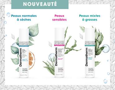 Dermatherm est la première marque française dermo-cosmétique certifiée bio sans conservateur.